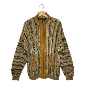 "Vintage Tundra ""Coogi Style"" Full Sweater Jacket"